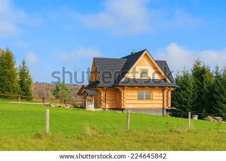 Mountain house stock images royalty free images vectors shutterstock - Traditional polish houses wood mastership ...