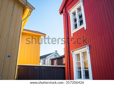 Wooden house stock photos images pictures shutterstock for Norway wooden houses