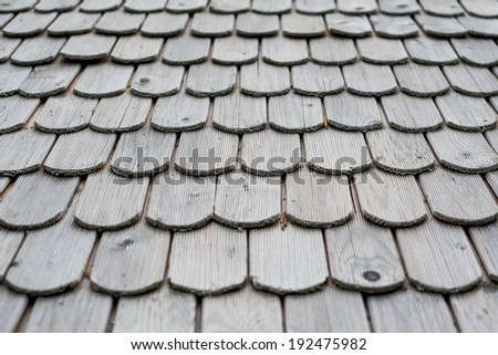 Traditional wooden roof  - stock photo