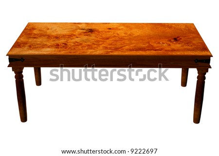 Traditional wooden table to stand your products - stock photo