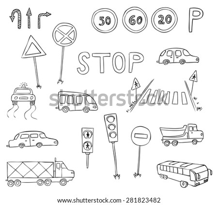 traffic and transportation - stock photo