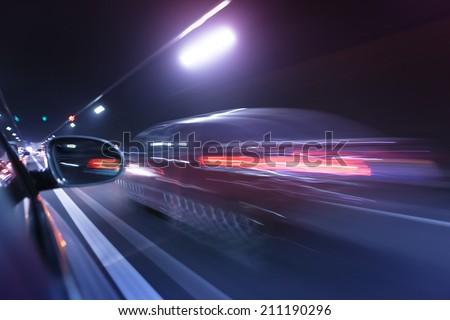 traffic city - stock photo