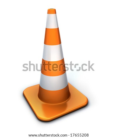 Traffic cone - stock photo