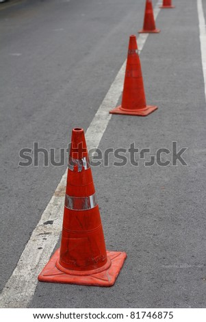 Traffic Cone. - stock photo