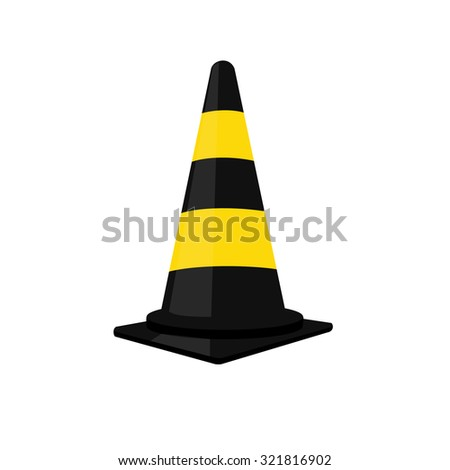 Traffic cone, traffic cone isolated, traffic cone raster