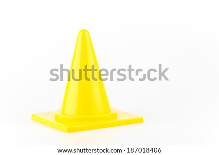 Traffic cones isolated white background
