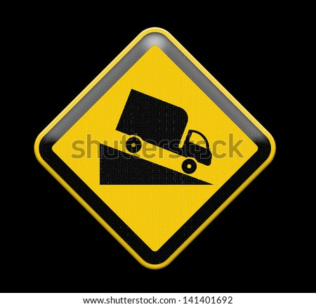 traffic down hill, Part of a series. - stock photo