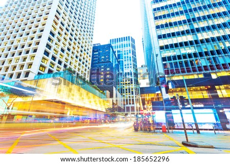 traffic in modern city  - stock photo