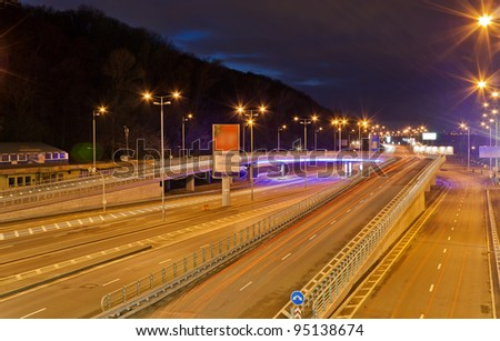 Traffic interchange in Kyiv, Ukraine - stock photo