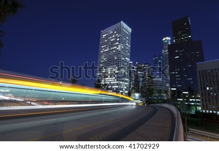 Traffic into the city - stock photo