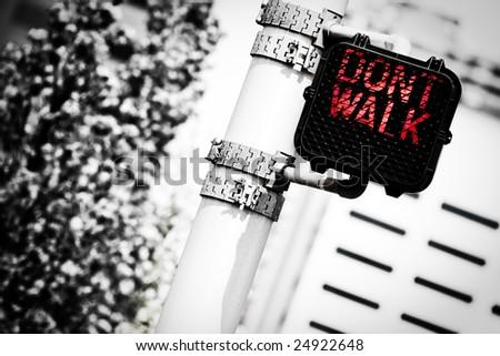 Traffic Light (Don't Walk) - stock photo
