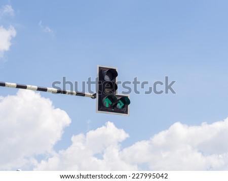 Traffic light : Green Light - stock photo