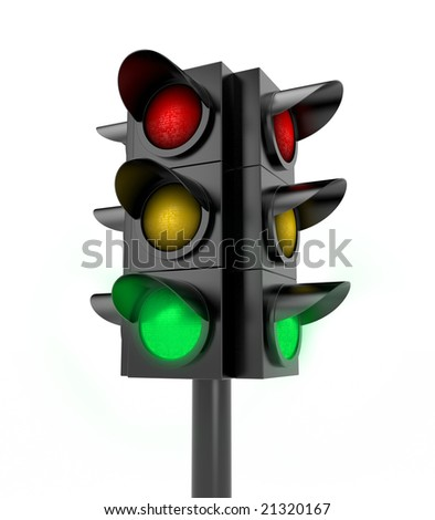 Traffic light. Green light on - stock photo