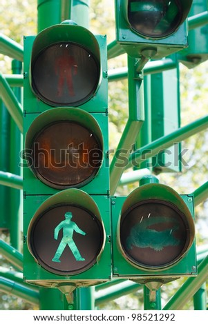 traffic light in all combinations. - stock photo