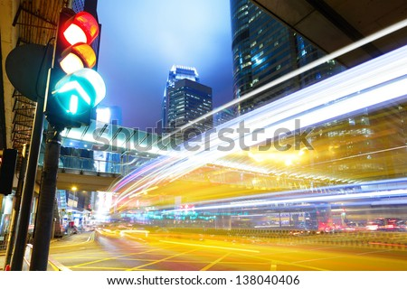 Traffic light in the city - stock photo