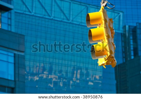 traffic lights in New York - stock photo