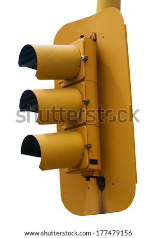 traffic lights over white surface - stock photo