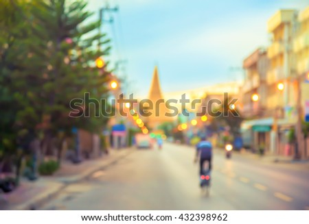 Traffic on the roadway nighttime, blurred image background. concept about transportation. - stock photo