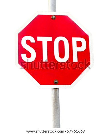 traffic  sign compulsory highway code stop symbol white background
