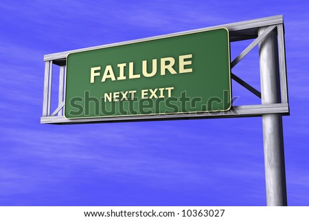 Traffic Sign - Failure - stock photo