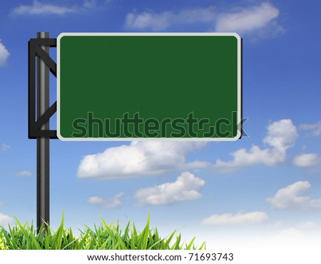 Traffic sign green - stock photo