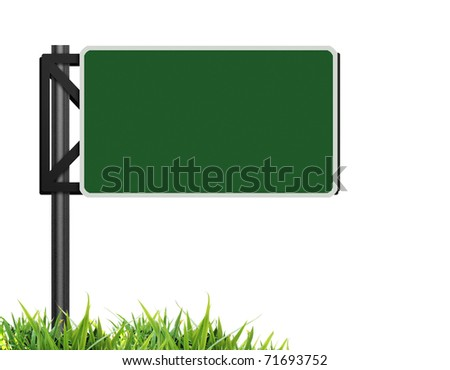 Traffic sign green - stock photo