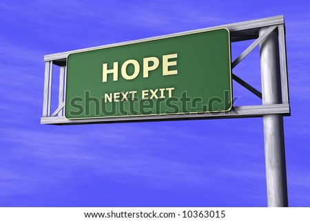 Traffic Sign - Hope - stock photo