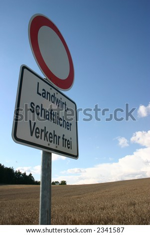 traffic sign in germany