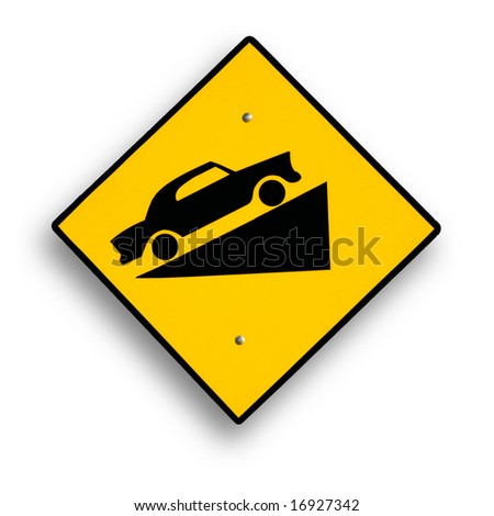 Traffic sign isolated on white. - stock photo