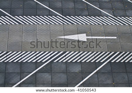 traffic sign on pavement
