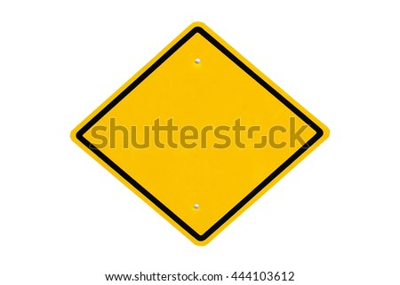traffic sign plate ,isolate white background