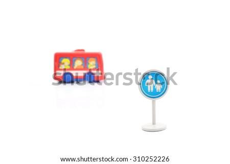Traffic sign (School warning sign)  - stock photo