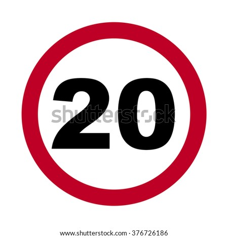 traffic sign speed limit 20