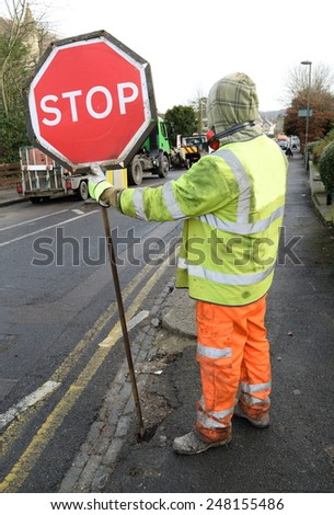 Traffic sign STOP - stock photo