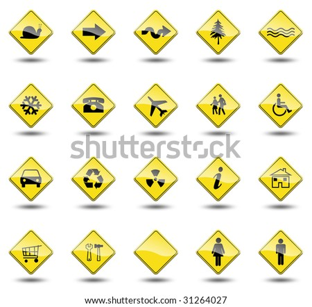 traffic signals on a white background