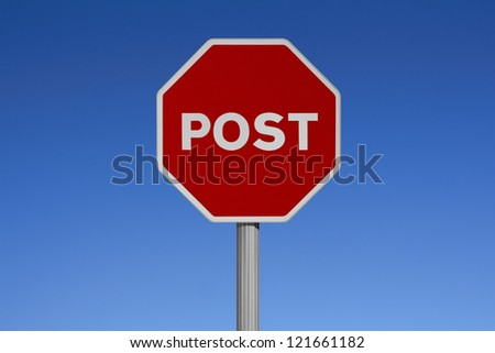 Traffic signs with sky background-POST