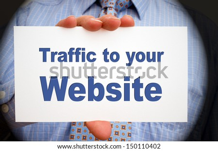 Traffic to your Website - stock photo