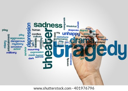 Tragedy concept word cloud background - stock photo