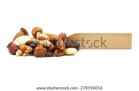Trail mix at plate - stock photo