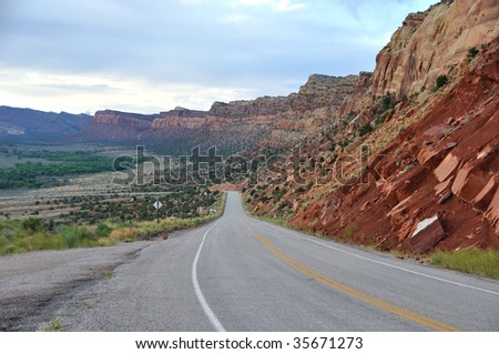 Trail of the Ancients Byway - southern Utah - stock photo