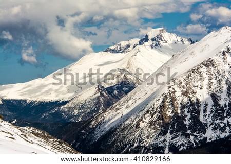 Trail Ridge Road Snow 6 - stock photo
