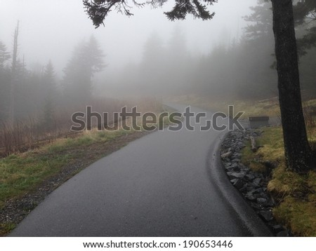 Trail to Clingman's Dome in Great Smoky Mountains National Park - stock photo
