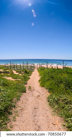 Trail to the Beach - stock photo