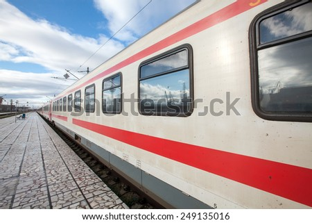 train at the train station - stock photo
