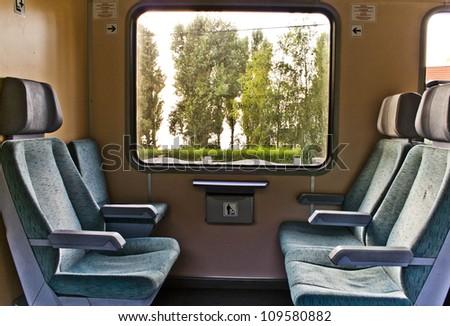 train chairs - stock photo