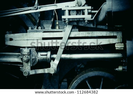 Train engine - stock photo