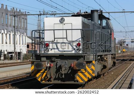 Train engine at the dutch railroads - stock photo