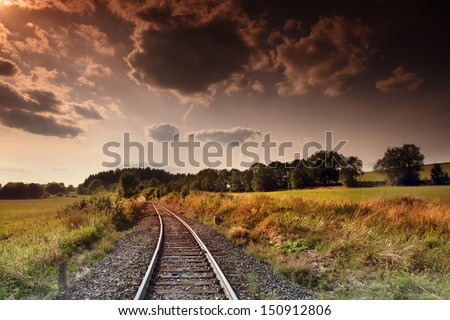 Train in the landscape