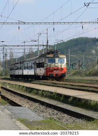 Train is coming - stock photo