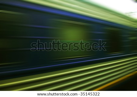 train moves on a rail way. - stock photo